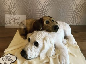 2 dogs extreme cake - real life sculpture 3D dog