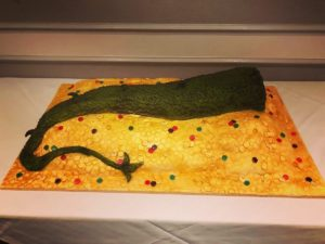 5 foot dragons tail cake - Smorg from Tolkien