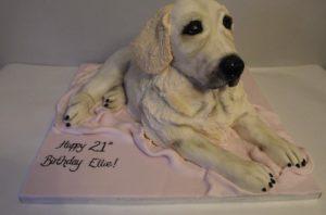 lifelike dog cake