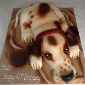realistic dog cake