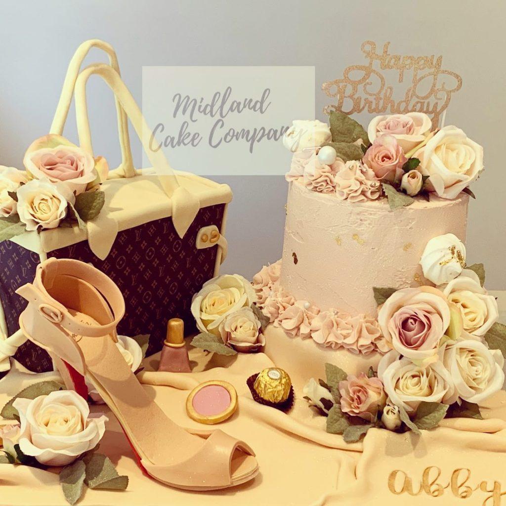 extreme cake fashion handbag shoes lipstick